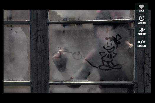 Disegni animati su vetri appannati